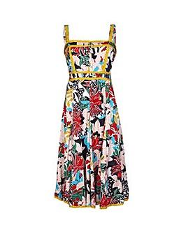 Yumi Curves Jungle Floral Dress