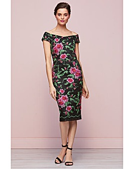 Gina Baccon Avril Floral Dress