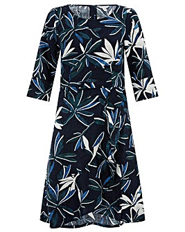 Monsoon Bonita Print Frill Hem Dress