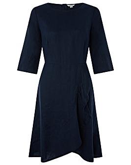 Monsoon Mary Linen Frill Hem Dress