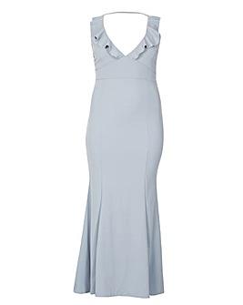 Be Jealous Frill V Neck Maxi Dress