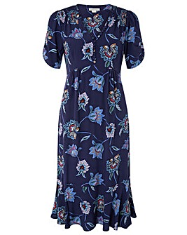 Monsoon Nadia Print Tea Dress