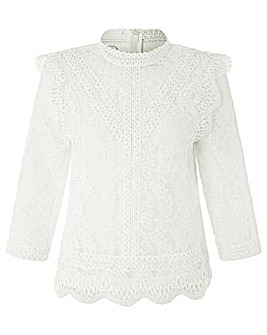 Monsoon Jenny Lace 3/4 Sleeve Top