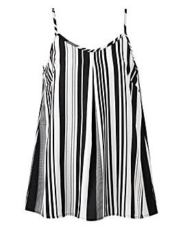 Mono Stripe Strappy Cami Top