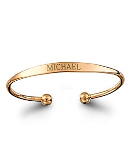 Personalised Rose Gold Plated Bangle