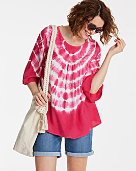 Pink Print Strappy Back Smock Top