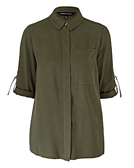 Khaki Utility Shirt With D Ring Detail