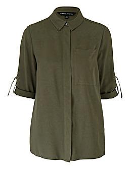 Khaki Utility Shirt With D Ring Detail