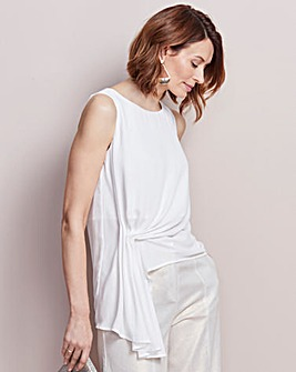 Ivory Side Drape Top