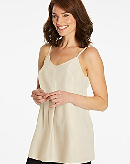 Metallic Gold Strappy Cami Top