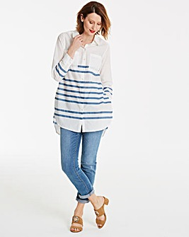 Ivory Oversized Stripe Shirt