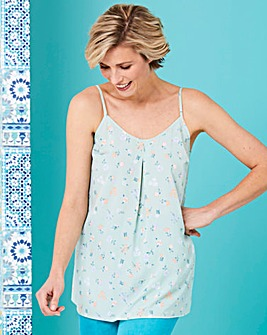 Mint Floral Strappy Cami Top