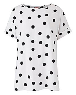 Black Spot Drop Sleeve Top