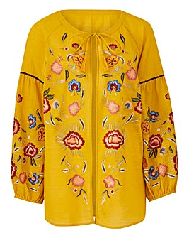 Mustard Embroidered Cover Up