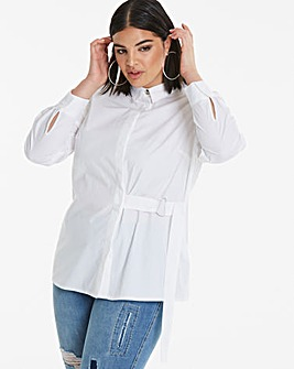 White D Ring Detail Shirt