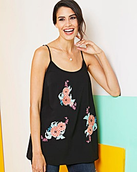 Black Embroidered Cami