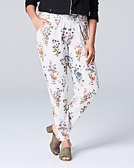 Printed Jersey Harem Trouser Regular