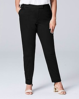 Tapered Leg Cotton Sateen Trouser Reg