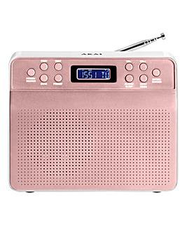 AKAI Portable DAB Radio Rose Gold