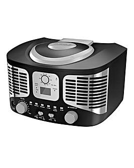 AKAI Retro CD Boombox Black