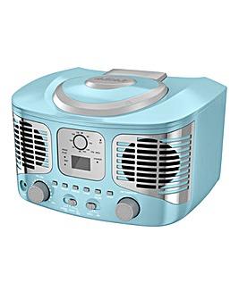 AKAI Retro CD Boombox Blue