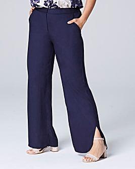Curved Split Hem Trouser Long