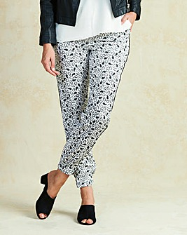 Print Woven Cuff Trouser Regular