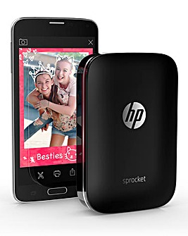 HP Sprocket Portable Photo Printer Black