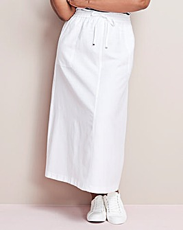 Essential Linen Mix Maxi Skirt