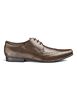 Leather Formal Brogue Shoes Standard Fit