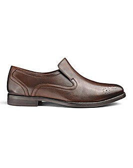 Leather Slip On Shoes Ex Wide Fit