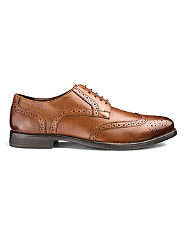 Leather Formal Brogues Extra Wide Fit