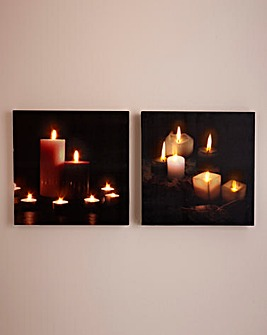 LED Light Up Canvas Pack Of 2