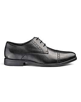 Leather Formal Derby Shoes Standard Fit