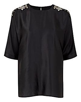 Black Drop Sleeve Top