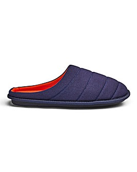 Jersey Quilted Mule Slippers