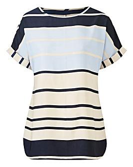 Petite Stripe Drop Shoulder Blouse