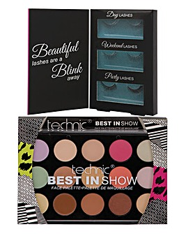 Eyelashes & Make Up Palette