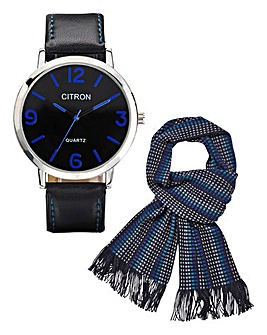 Gents Watch And Scarf Set