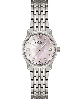 Rotary Ladies Silver Tone Bracelet Watch