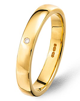 9ct Gold Plated Diamond Wedding Band