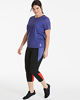 Sports Tee With Mesh Sleeves