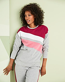Leisure Colour Block Sweat Top