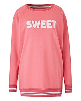 Leisure Oversized Slogan Sweat