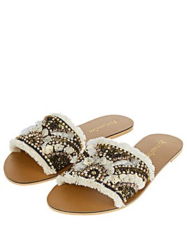 Accessorize Florence Fringed Sliders