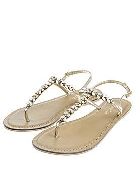 Accessorize Pearl Leaf Sandals