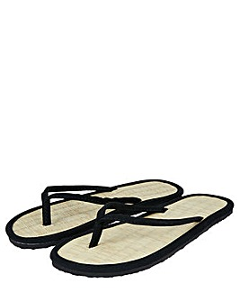 Accessorize Plain Seagrass Flip Flop
