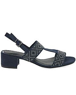 Marco Tozzi Vermeer Womens Stud Sandals