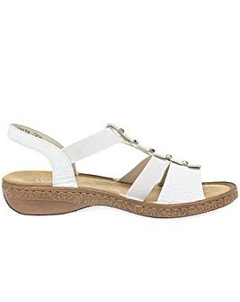 Rieker Trim Womens Sling Back Sandals