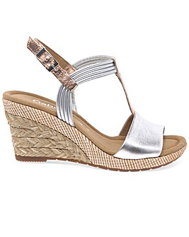 Gabor Jess Womens Casual Wedge Sandals
